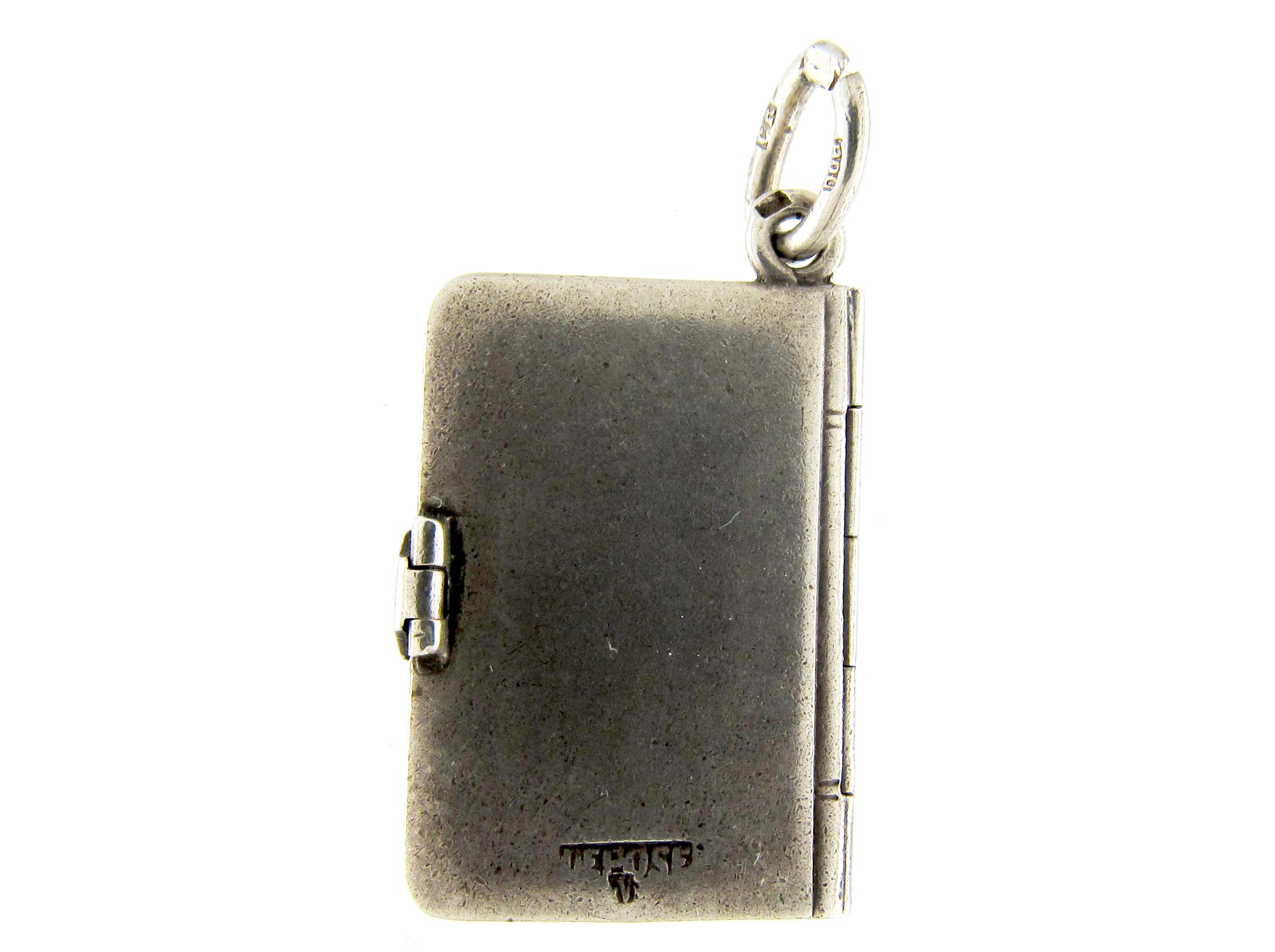 Silver Cherub Book Charm