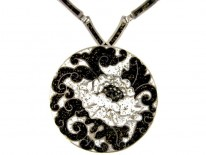Silver & Enamel Mexican Necklace by Margot