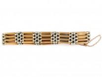 15ct Gold & Platinum Gate Bracelet