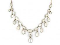 Gold Moonstone Festoon Necklace