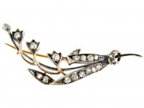 Edwardian, Diamond, Silver & Gold Lily of the Valley Brooch