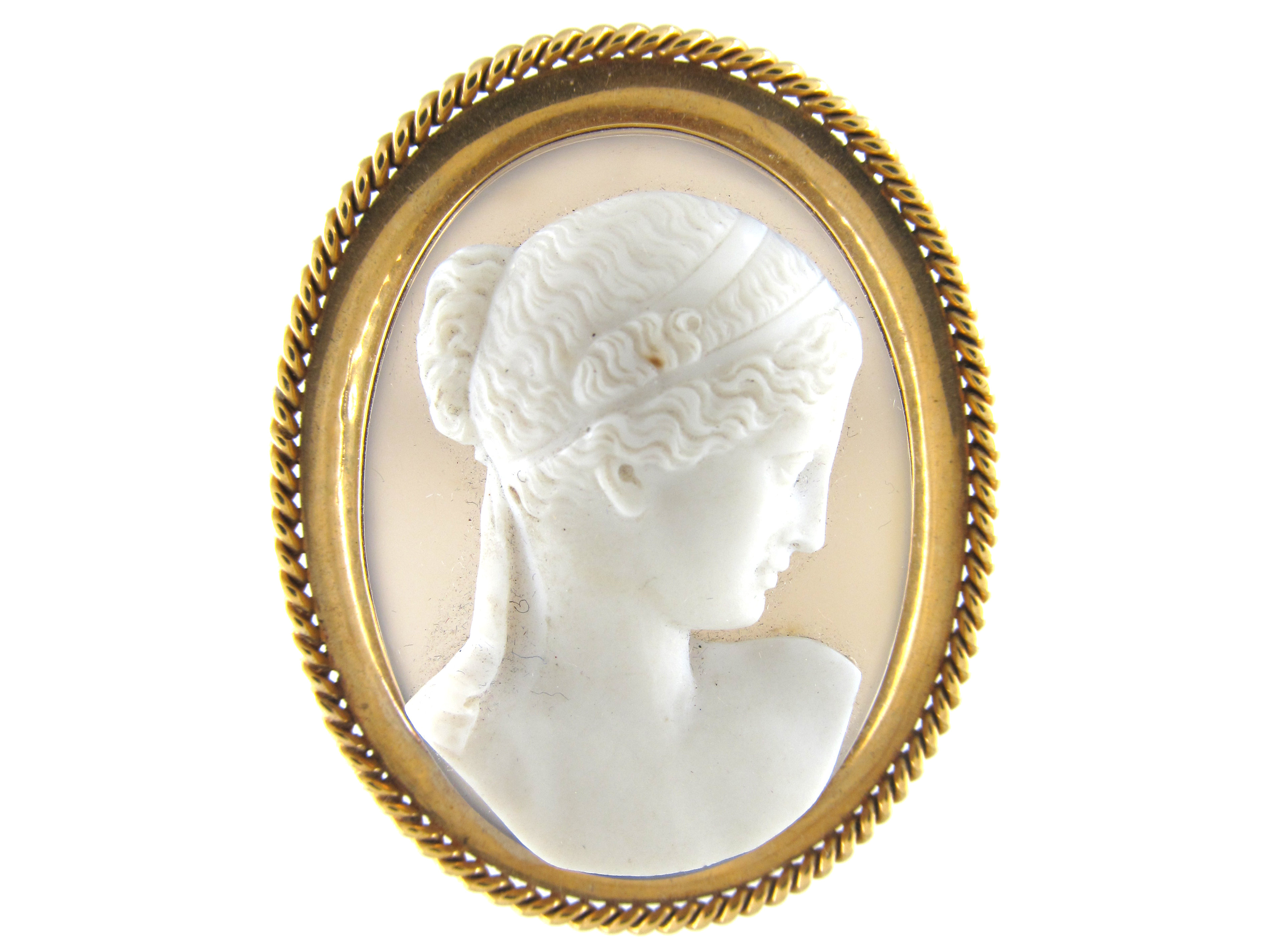 18ct Gold Victorian Cameo
