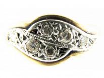 Diamond Double Twist Ring