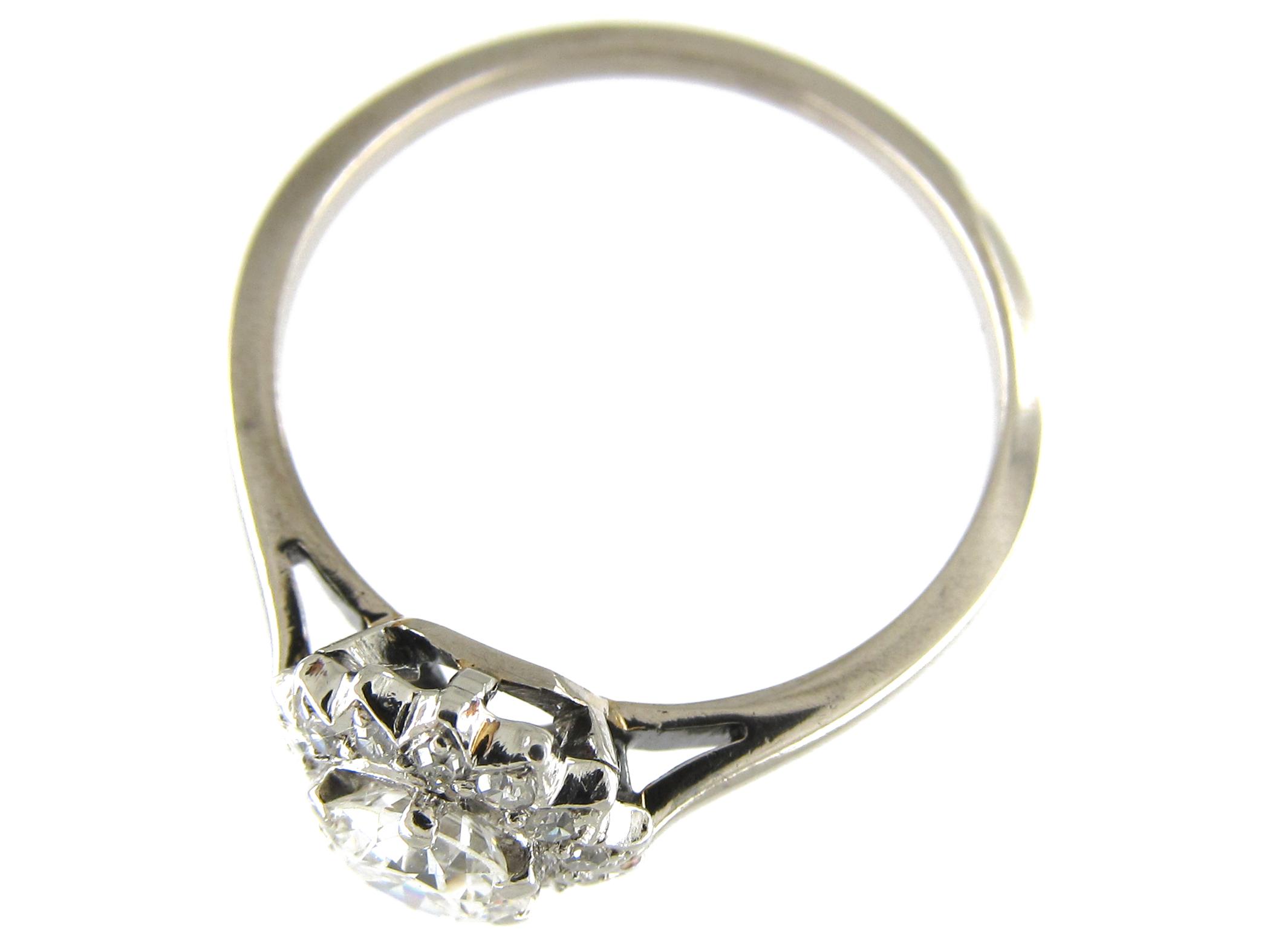 Diamond Daisy Cluster Ring