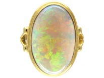 18ct Gold Large Opal & Gold Cocktail Ring
