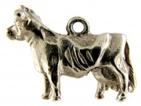 Silver Cow Charm