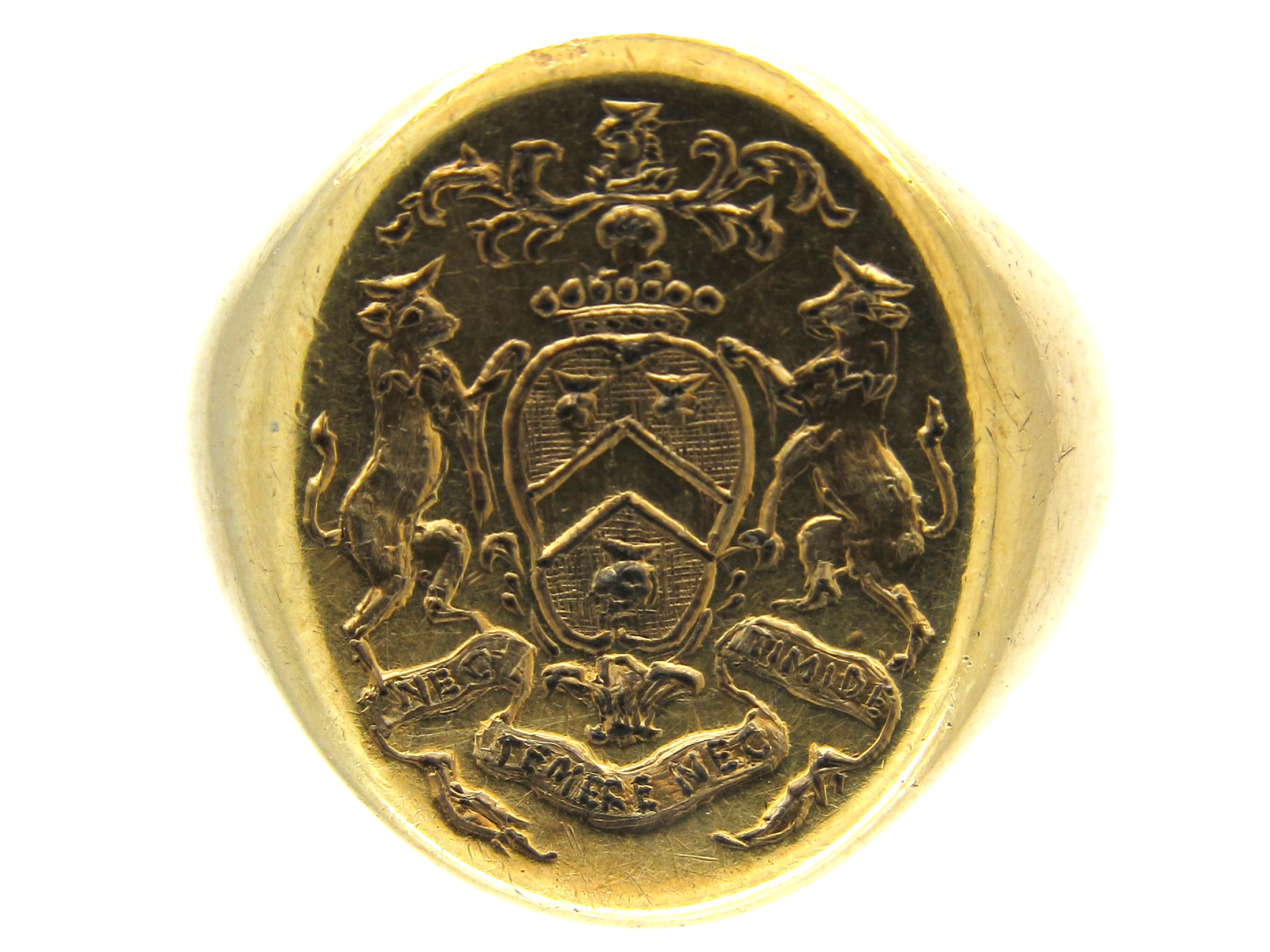 14ct Gold Signet Ring with Good Crest