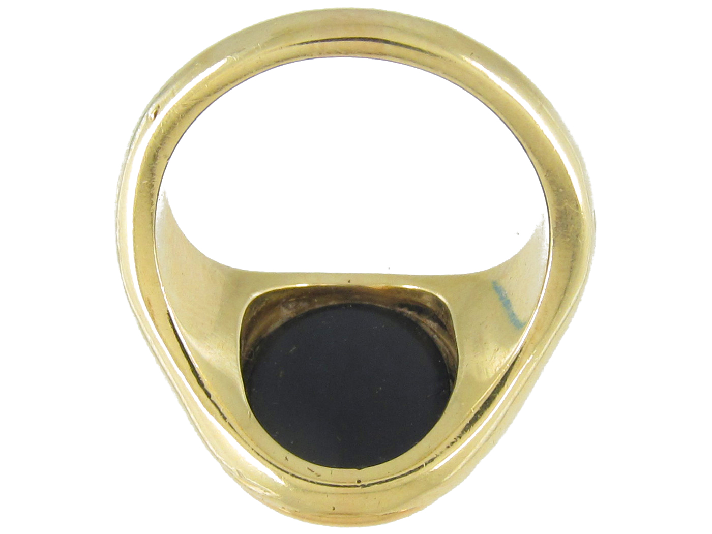 Victorian Onyx & 14ct Gold signet Ring