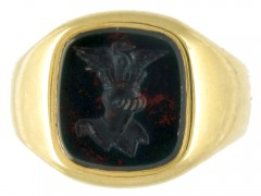 18ct Gold Signet Ring Retailed by Cartier