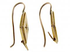Victorian 18ct Gold Diamond Set Earrings
