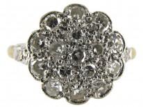 Diamond Large Cluster Edwardian Ring