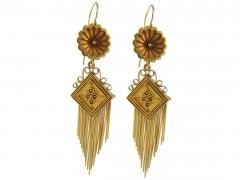 18ct Gold Victorian Tassle Drop Earrings