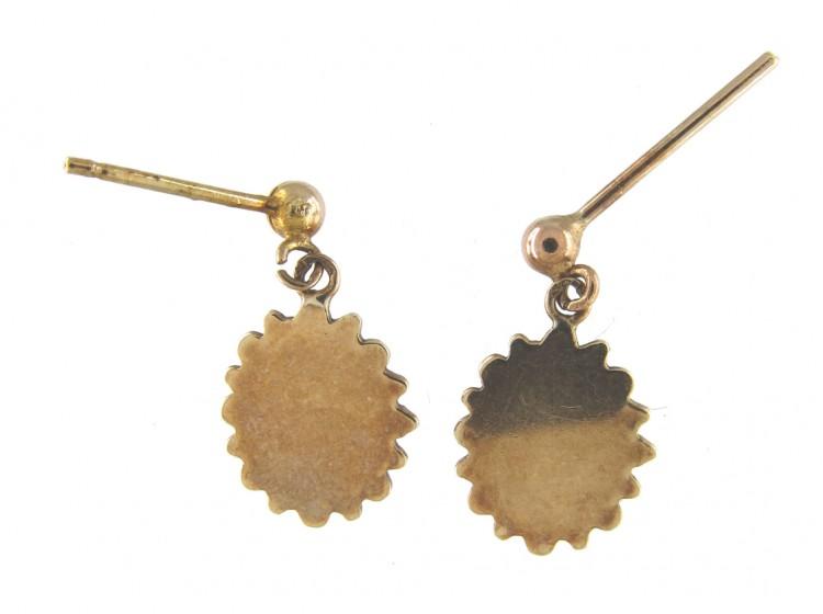 9ct Gold Victorian Diamond Set Earrings