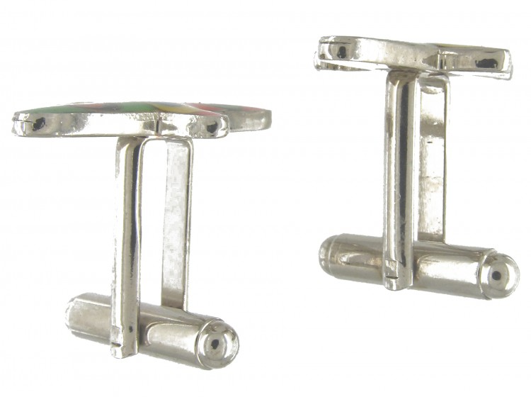Metal & Enamel Aeroplane Cufflinks