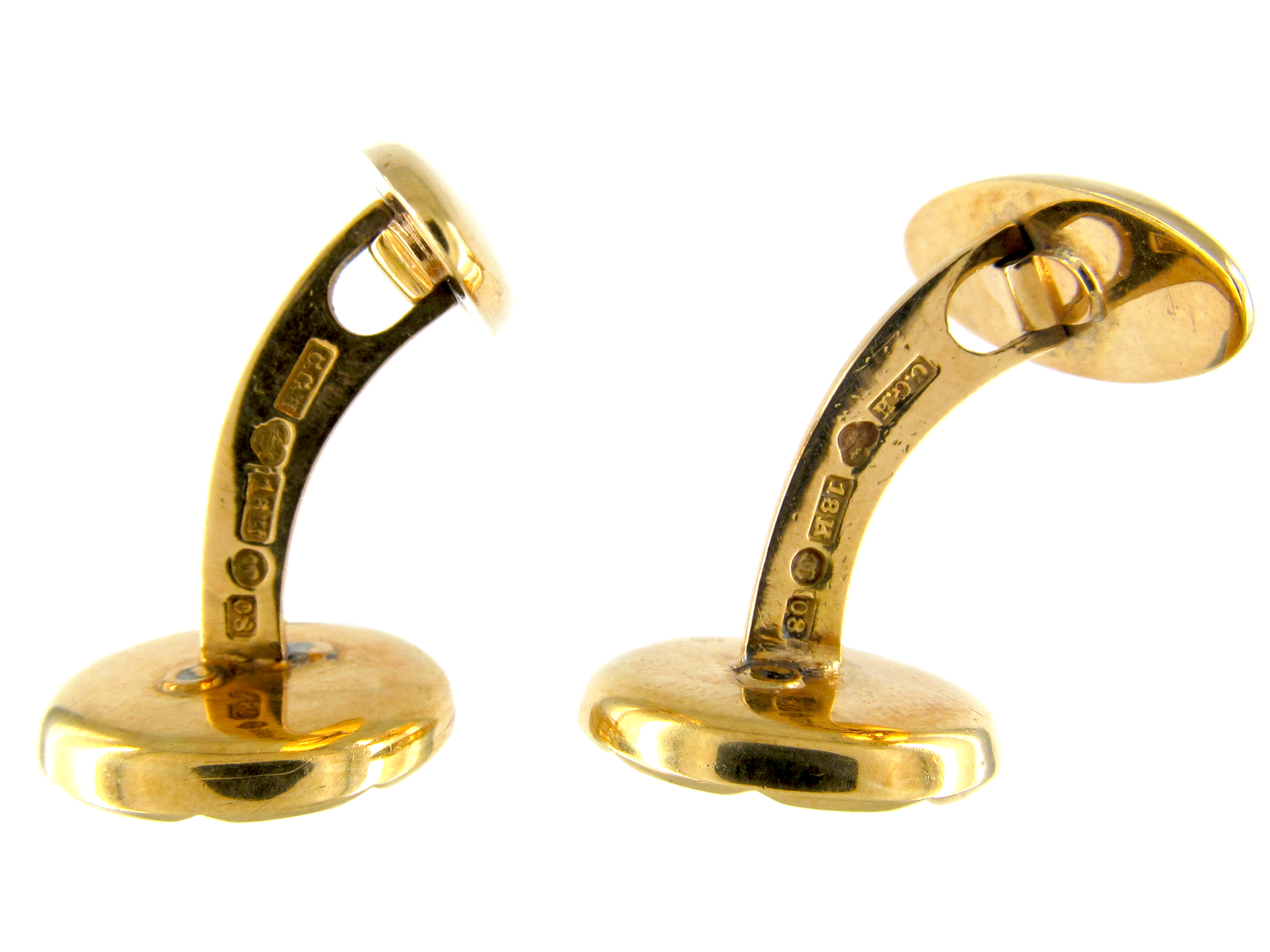 Gold & Mother of Pearl Cufflinks