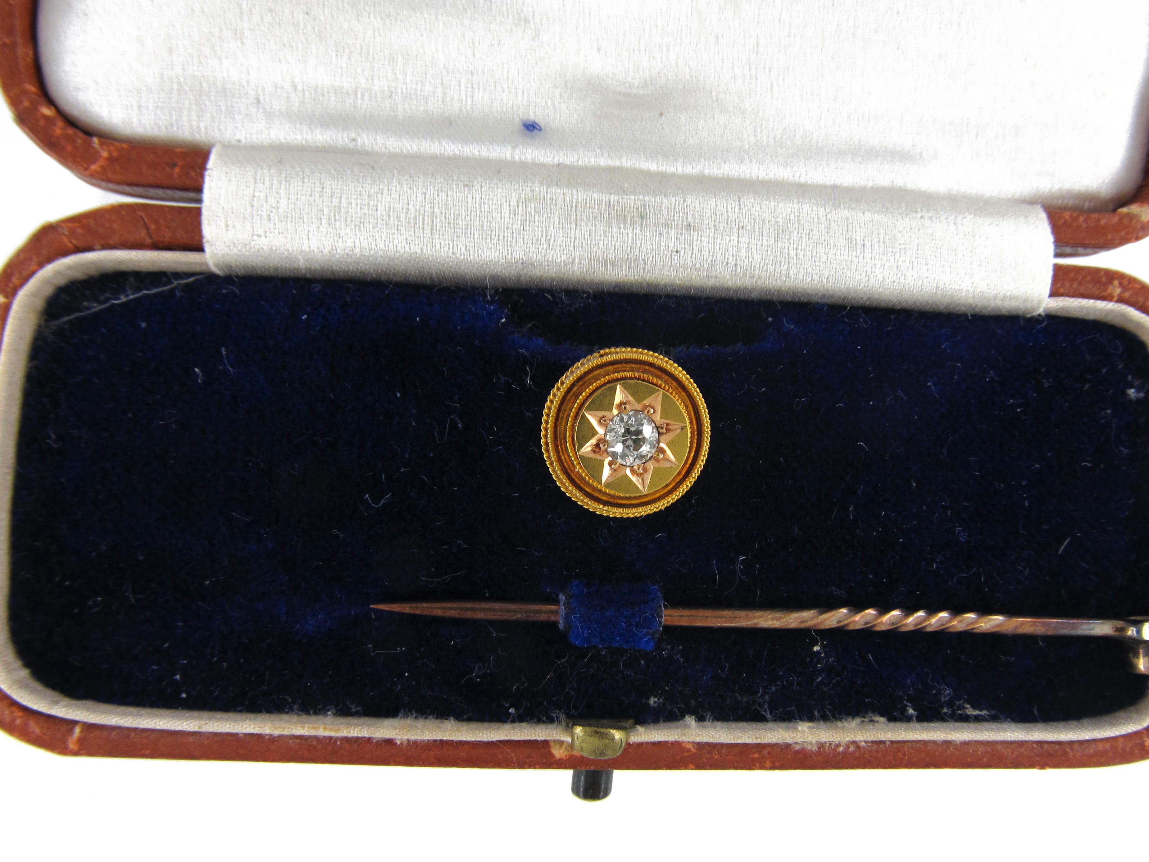 Victorian Gold & Diamond Tie Pin