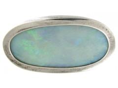 Silver & Opal Brooch