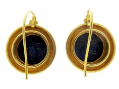 Victorian 18ct Gold & Lapis Earrings
