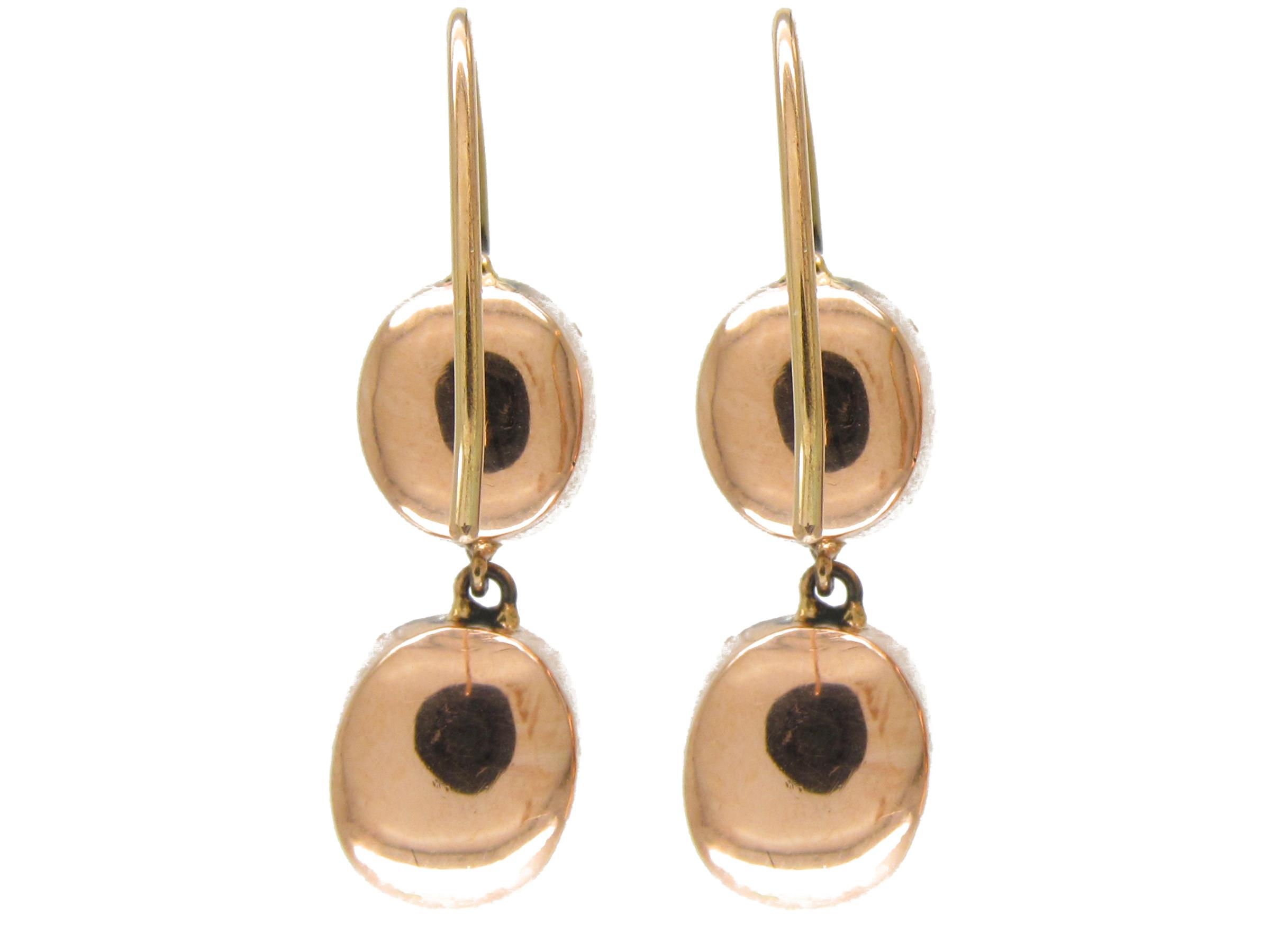 Georgian Double Drop Garnet Earrings