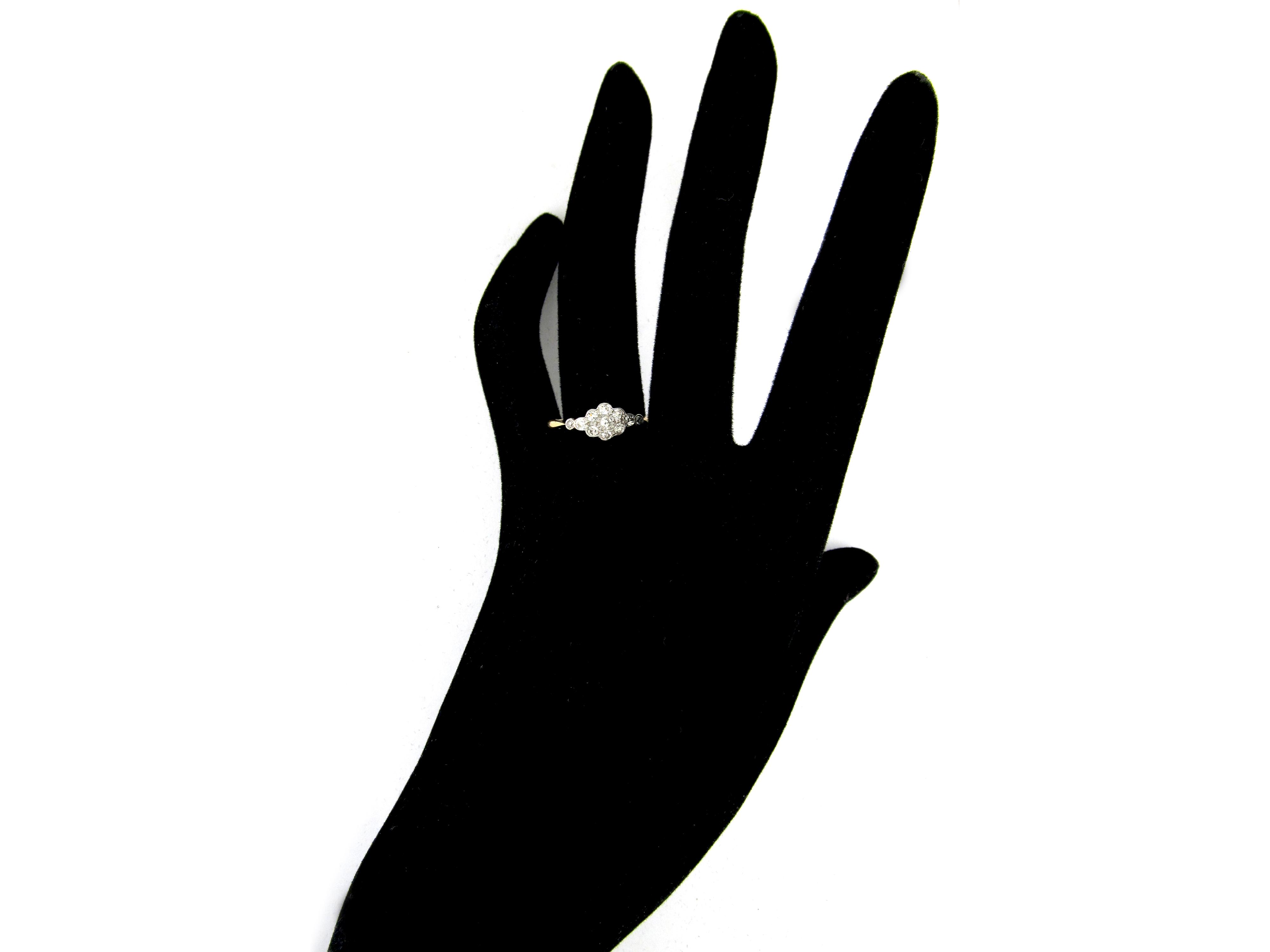Daisy Diamond Cluster Edwardian Ring