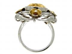 Silver & Citrine Arts & Crafts Ring