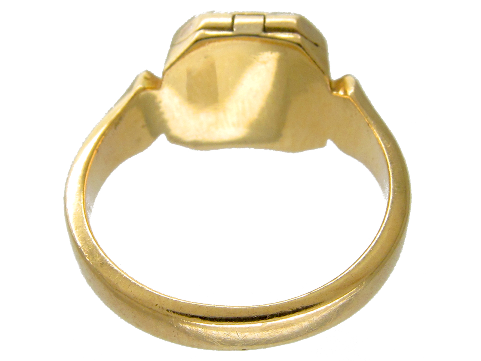 Opening 18ct Gold Victorian Signet Ring