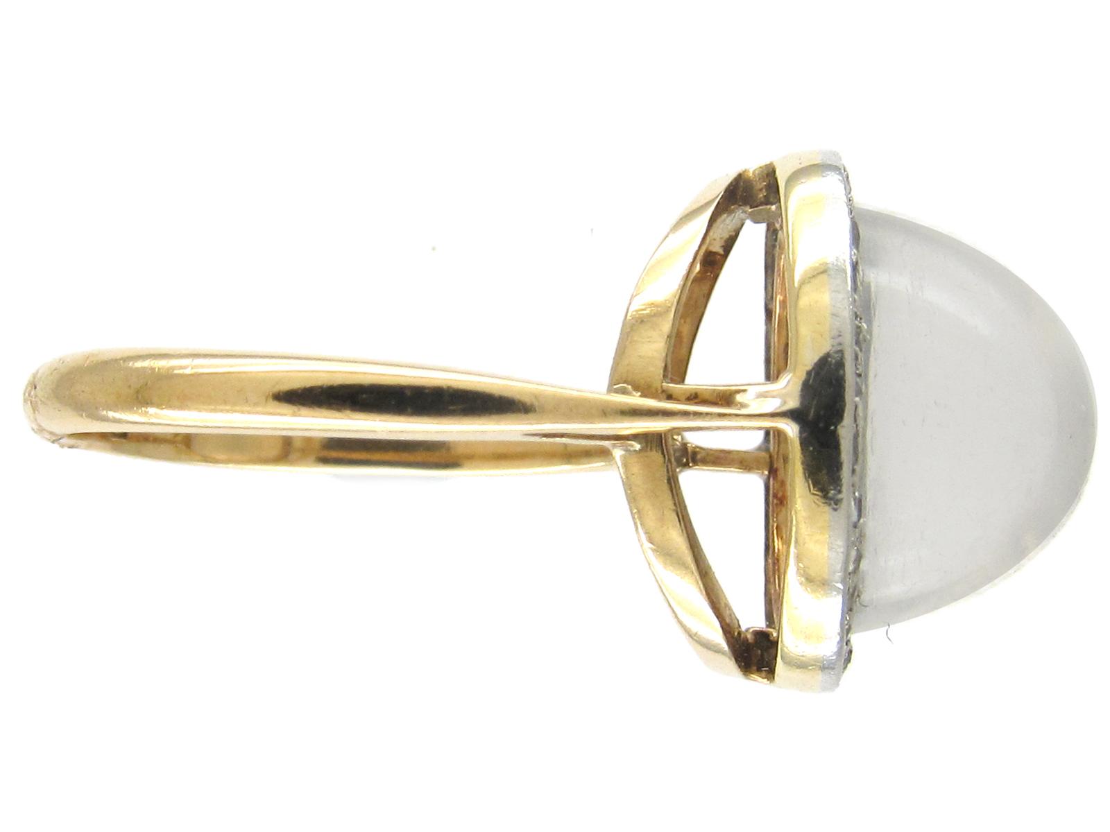 Edwardian Moonstone & Diamond Ring