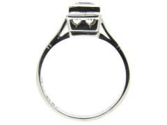 Aquamarine 18ct White Gold & Platinum Ring