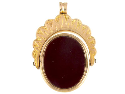 Victorian 9ct Gold Swivel Double Sided Locket