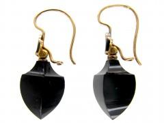Onyx & Enamel Earrings