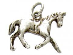 Silver Horse Charm