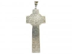 Victorian Silver Celtic Cross Pendant