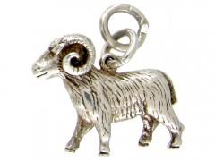 Silver Ram Charm