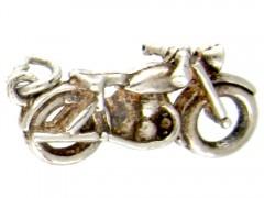 Silver Motorbike Charm