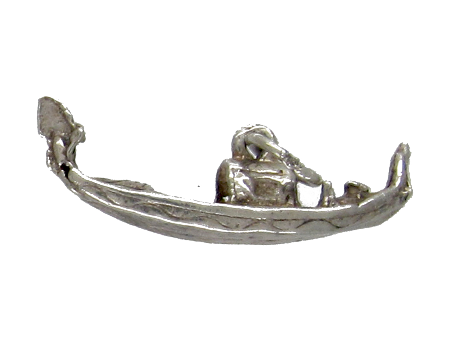 Silver Venetian Gondola Charm