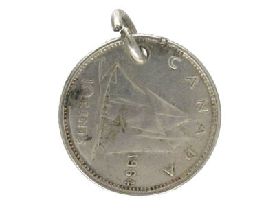 Silver Canadian Coin Charm