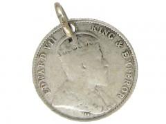 Silver Hong Kong Coin Charm