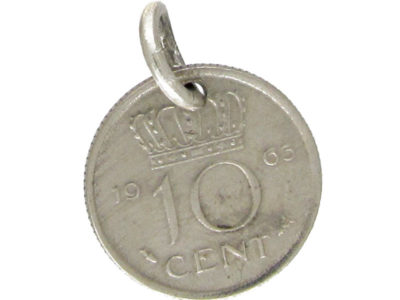 Silver 10 Cent Coin Charm