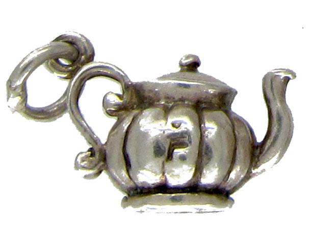 Silver Teapot Charm