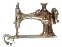 Silver Sewing Machine Charm