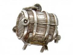 Silver Empty Barrel Charm