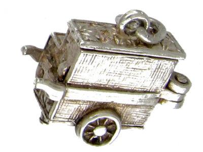Silver Organ GrinderCharm