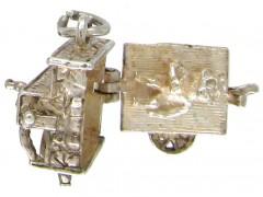 Silver Organ Grinder Charm