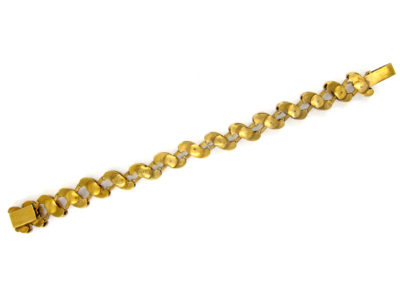 Victorian 18ct Royal Blue Enamel & Natural Split Pearl Bracelet