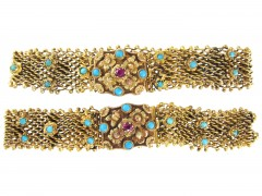 Pair of Georgian 18ct Gold Mesh Bracelets