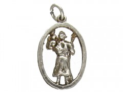 Silver St Christopher Charm