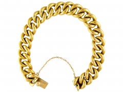French 18ct Gold Curb Bracelet