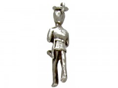 Silver Guardsman with Trumpet Charm