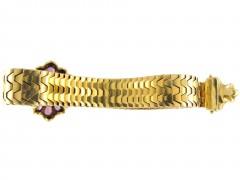 Victorian Gold & Almandine Garnet Jarretière Bracelet
