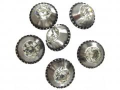 Georgian Silver & Paste Buttons in Original Case